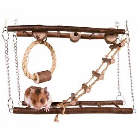 Una jaula bien equipada para hamsters