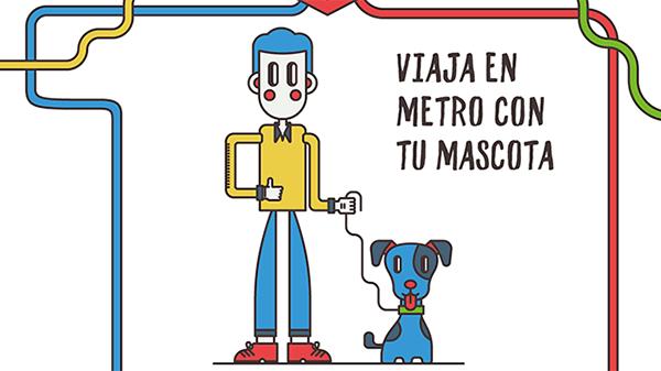 Viaja en metro con tu mascota