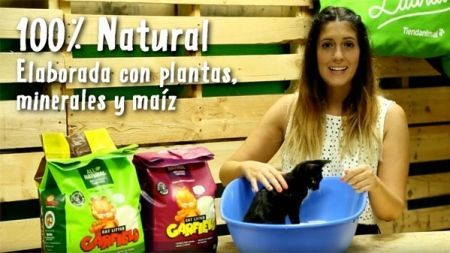 Análisis: Arena aglomerante biodegradable Garfield