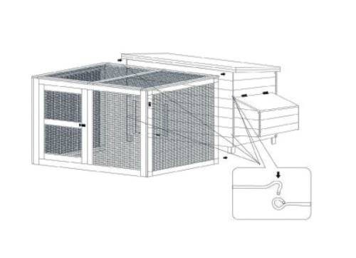 Pack chicken coop + cage Pet Rocky Modular Technical instructions