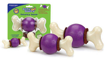 Bouncy Bone Busy Buddy premier mordedor con pelota