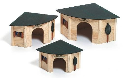 House corner nest shelter of wood for rodents