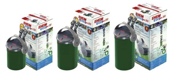 Eheim ecco pro external filter of low power consumption for aquariums