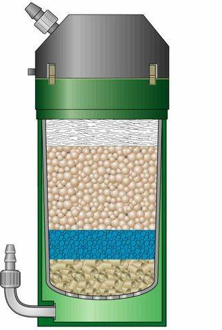 Eheim classic suggestion of colocacion loads external filter