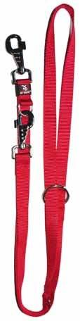 Multiple position nylon basic leash in colours 1