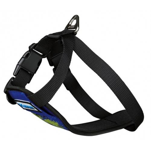 arnes harness x-trm game over azul perro dog