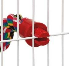 Hanger of multicolored cotton for parrots and parakeets