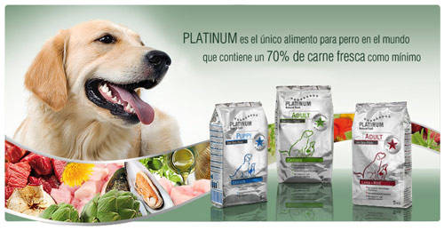 I think platinum dog food natural extra meat