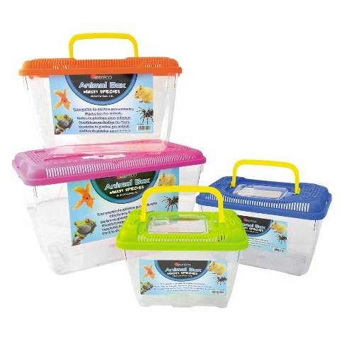 Relocation of rodents, reptiles, fish and insects ANIMAL BOX carrier