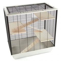 Jaula para cobayas TK-Pet Wood con 4 pisos