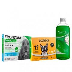 Pack antiparasitario TOTAL con Scalibor para perros medianos