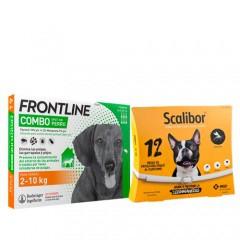 Pack antiparasitario protección total para perros pequeños: Scalibor y Frontline