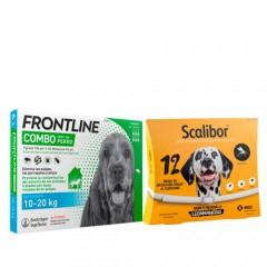Pack antiparasitario protección total para perros medianos: Scalibor y Frontline