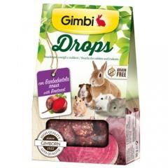 Snacks para roedores GimBi Drops Remolacha