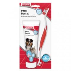 Pack Dental pasta & cepillo para mascotas