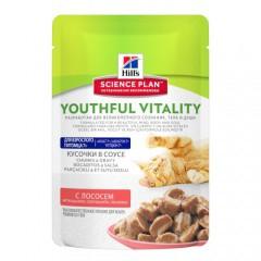 Hill's Youthful Vitality 7 húmedo para gatos con salmón