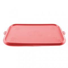 Alfombrilla de goma para comederos TK-Pet roja