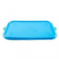 Alfombrilla de goma para comederos TK-Pet azul