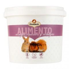 Alimento para conejos y cobayas Vivanimals cubo