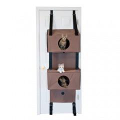 Árbol de gatos con 3 niveles para puertas