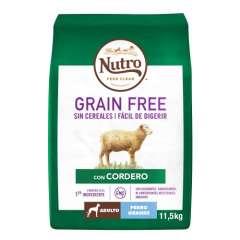 Nutro Grain Free con cordero para perros grandes