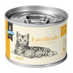 Criadores húmedo gatos esterilizados Pollo y Salmón