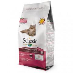 Pienso para gatos Schesir Sterilized & Light jamón