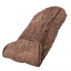 Toalla de microfibra para perros y gatos marrón
