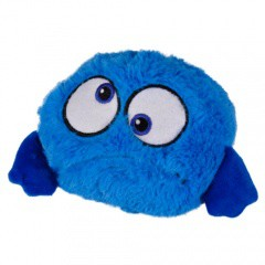 Peluche pelota saltarina azul
