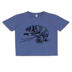 Camiseta de niño Animal Totem camaleón blanco