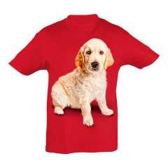 Camiseta para niños Ralf Nature golden retriever rojo