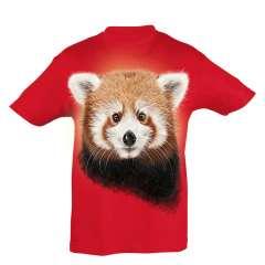 Camiseta Niño Panda rojo color Rojo