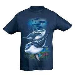 Camiseta Niño Fiesta Delfines color Azul