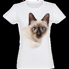 Camiseta Mujer Siamés color Blanco