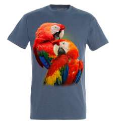 Camiseta Loros Rojos color Azul