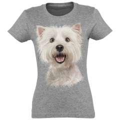 Camiseta Mujer Westie color Gris