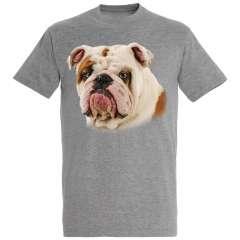 Camiseta Bulldog Inglés color Gris