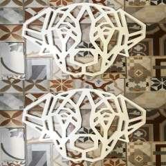 Silueta decorativa de perro raza Cocker color Blanco