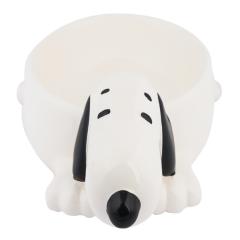 Comedero para perros Zooz 3D Snoopy color blanco