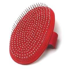 Cepillo de goma con púas metálicas
