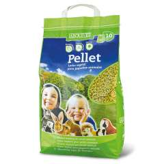 Lecho de fibras naturales Pellet