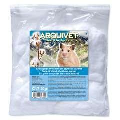 Algodón para hamsters color Blanco