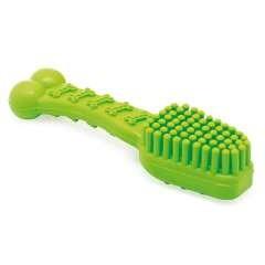 Cepillo de dientes de goma para perros color Verde