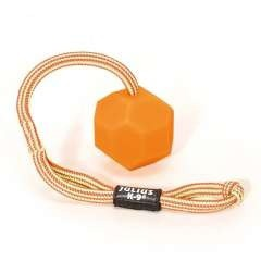 Pelota con cuerda fluorescente color Naranja