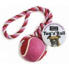 Juguete con cuerda y pelota para perros color Variado