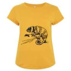 Camiseta manga corta mujer algodón camaleón color Amarillo