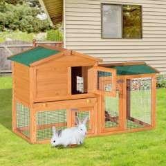 Jaula de conejos PawHut con centro de actividades y cajón extraíble