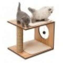 Lugar de juegos Catit Vesper para gatos color Nogal