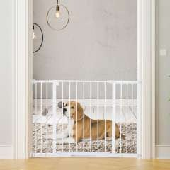 Barrera de seguridad PawHut para perros color Blanco