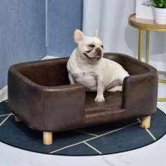 Sofá PawHut para mascotas con funda extraíble color Marrón